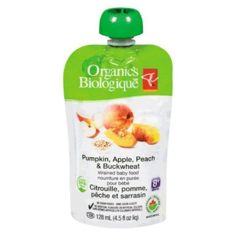 Pumpkin, Apple, Peach & Buckwheat - strained baby food