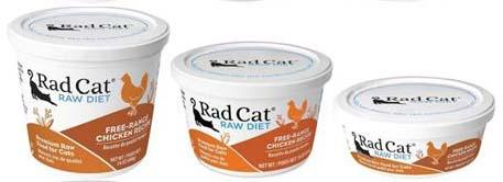 Rad Cat Raw Diet Free-Range Chicken Recipe (8oz, 16oz, 24oz)
