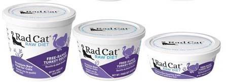 Rad Cat Raw Diet Free-Range Turkey Recipe (8oz, 16oz, 24oz)