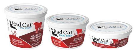 Rad Cat Raw Diet Grass-Fed Beef Recipe (8oz, 16oz, 24oz)