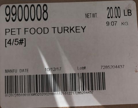 Raws For Paws Recalls Turkey Pet Food Because of Possible Salmonella Health Risk_02.jpg