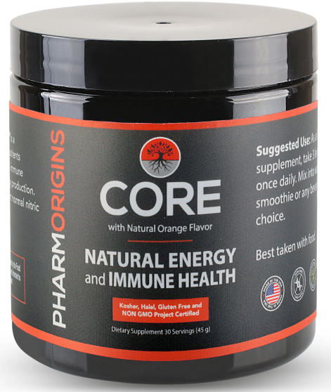 CORE Natural Energy and Immune Health, With Natural Orange Flavor