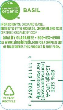 Simple Truth Organic Basil, Net wt 3oz