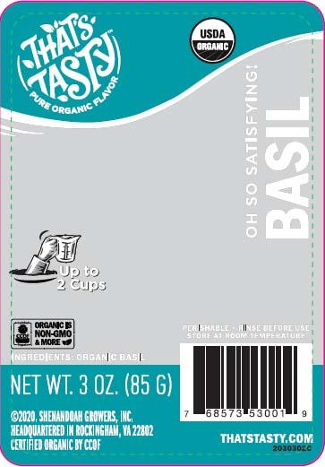That's Tasty Basil, Net Wt 3 oz