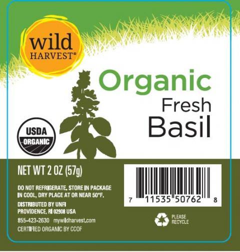 Wild Harvest Organic Fresh Basil, Net wt. 2 oz