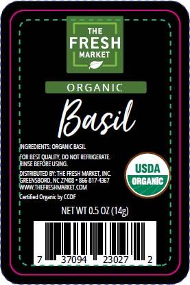 The Fresh market Organic Basil, Net wt. 0.5oz
