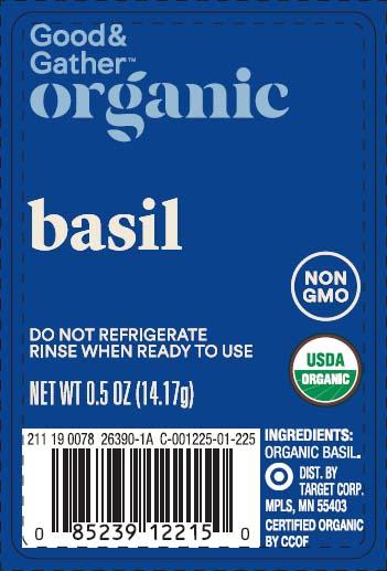 Good & Gather Organic basil, Net Wt. 0.5 oz