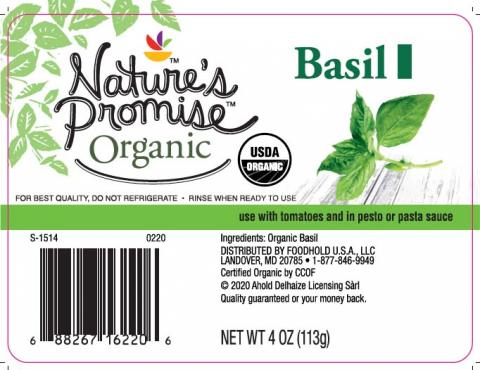 Nature's Promise Organic Basil, Net wt 4 oz