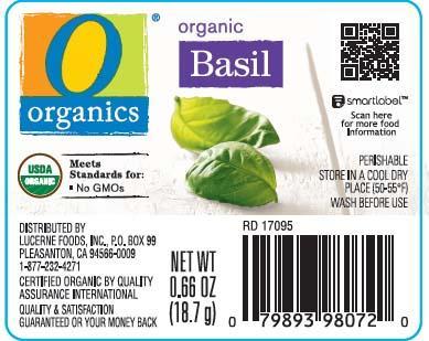 Organics Organic Basil Net wt. 0.66 oz