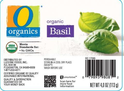 Organics Organic Basil Net wt. 4 oz