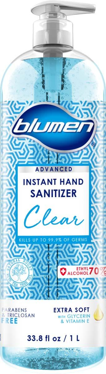Product image, BLUMEN CLEAR ADVANCED CLEAR TEA TREE HAND SANITIZER 33.8 FLOZ