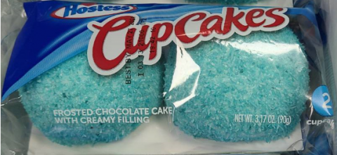 Hostess SnoBalls in Cupcakes packaging, Net Wt. 3.17 oz
