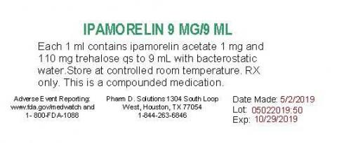 Representative label, ipamorelin