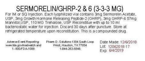 Representative label, sermorelinGHRP-2 & 6