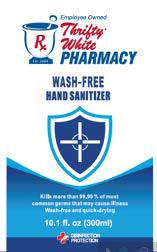 Rx Thrifty White Pharmacy wash-free hand sanitizer 300 ml front label
