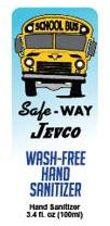 Safe-Way Jevco hand sanitizer 100 ml front label