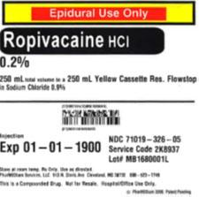 Service code 2K8937, 0.2% Ropivacaine HCl (Preservative Free) in 0.9% Sodium Chloride.jpg
