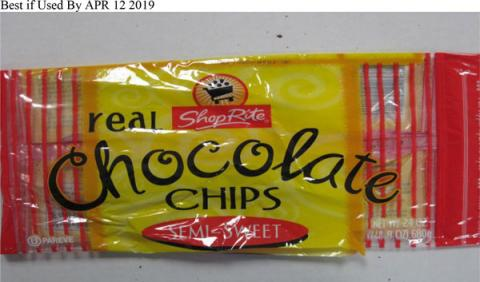 ShopRite brand Semi-Sweet Real Chocolate Chips, Best if Used By APR 12 2019