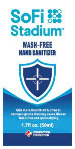 SoFi Stadium hand sanitizer 50 ml front label