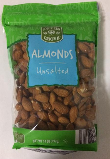 Southern Grove Unsalted Almonds, 14 oz..jpg