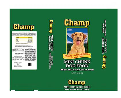 Image – Champ MINI CHUNK DOG FOOD, BEEF AND CHICKEN FLAVOR, Net Wt. 12lbs