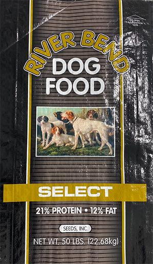 Image – RIVER BEND, DOG FOOD, SELECT, NET WT. 50 LBS.