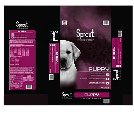 Image – Sprout, PUPPY, NET WT. 20 LBS.