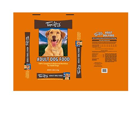 Image – Thrifty, ADULT DOG FOOD, NET WT. 12 LBS.