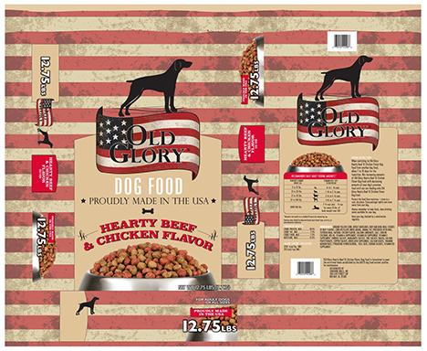 Image – OLD GLORY DOG FOOD, HEARTY BEEF & CHICKEN FLAVOR, NET WT. 12.75 LBS