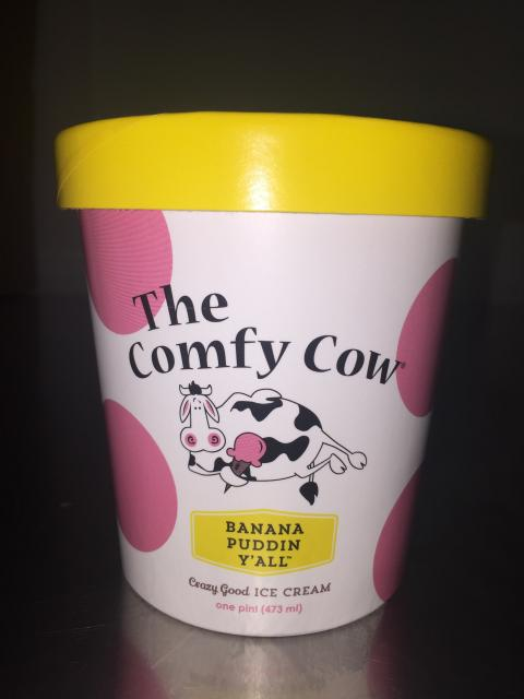The Comfy Cow Banana Puddin Y'all, INT – 473 mL, UPC 852009005353