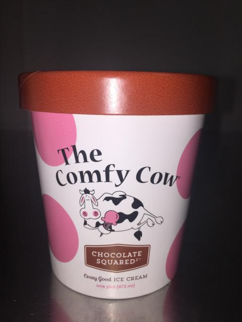 The Comfy Cow Chocolate Squared, PINT – 473 mL, UPC 852009005261