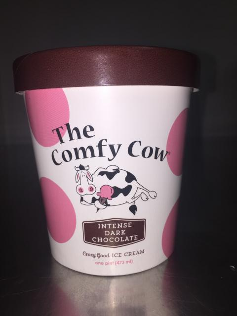 The Comfy Cow Intense Dark Chocolate, PINT – 473 mL, UPC852009005148