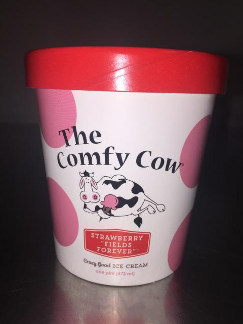 The Comfy Cow Strawberry Field Forever, PINT – 473 mL, 852009005308