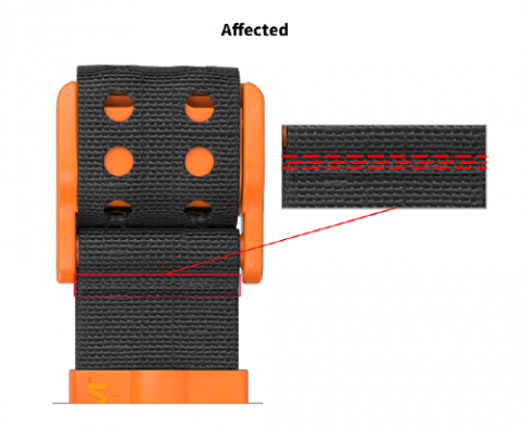 Product image of Affected tourniquet with multi-pass straight lockstitch