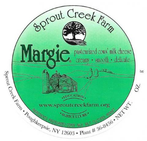Label, Margie Cheese 1 lb. wheel