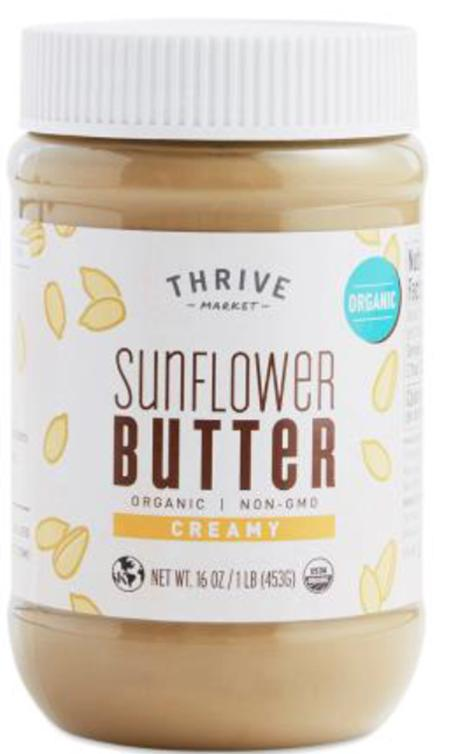 """Thrive Market, Sunflower Butter, Creamy, 16 oz."""