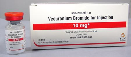Label, Vecuronium Bromide for Injection, 10 mg