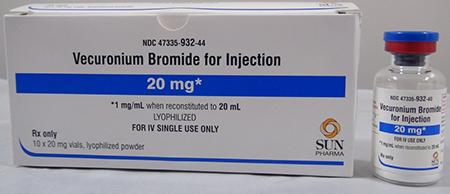 Label, Vecuronium Bromide for Injection, 20 mg
