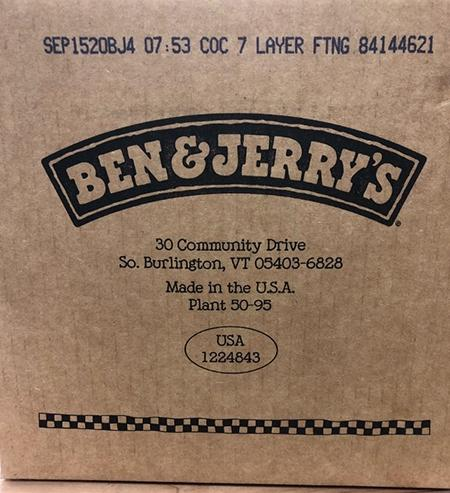 """Ben & Jerry's Coconut Seven Layer Bar bulk tub label"""