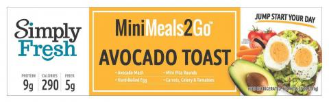 MiniMeal2Go-AvocadoToast 6.75oz. top label
