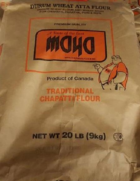 """Label, Maya Durum Wheat Atta Flour"""