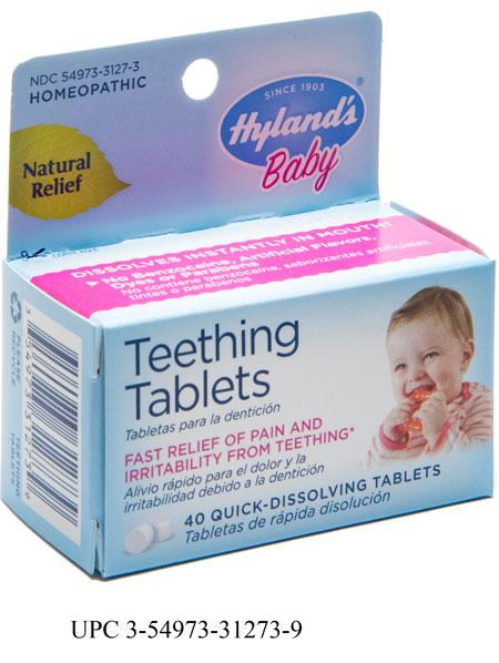 """Hyland's Baby Teething Tablets, 40 Quick-Dissolving Tablets"""