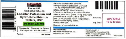 Losartan Potassium and Hydrochlorothiazide 50mg/12.5mg Tablets 90ct