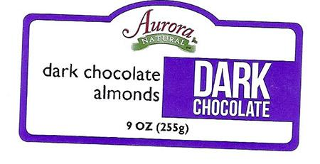 Aurora NATURAL dark chocolate almonds