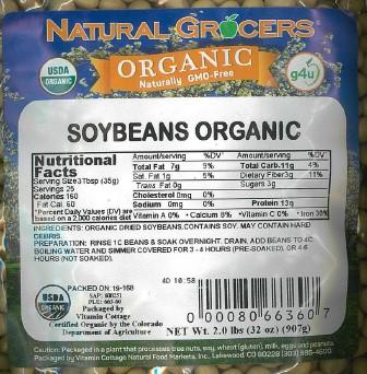 Product image, Natural Grocers Organic Soybeans Net Wt 2 lbs