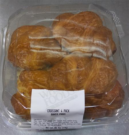 Image of croissant packaging