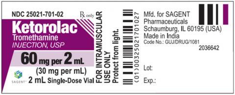 Label, Ketorolac Tromethamine Injection