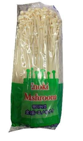 Product image front, H&C Food Inc. Enoki Mushroom 7.05oz (200g)