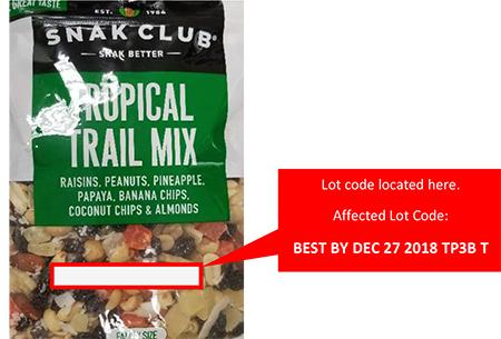 Front Package – Snak Club Tropical Trail Mix