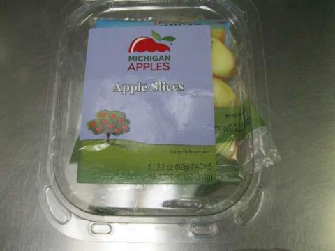 Front Tray Label  Michigan Apples Apple Slices